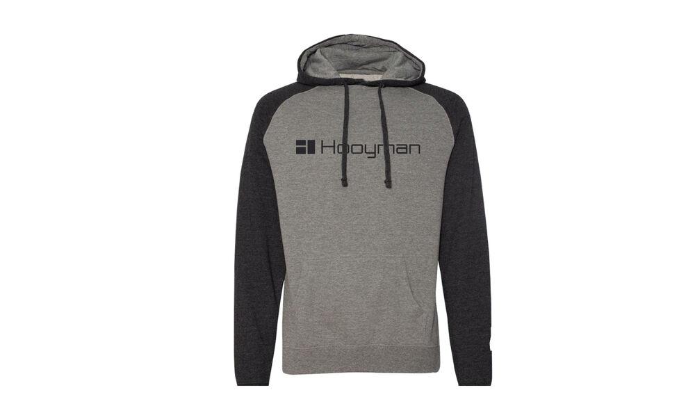 Hooyman Raglan Two Tone Hoody - XXL - Gunmetal Heather / Charcoal Heather